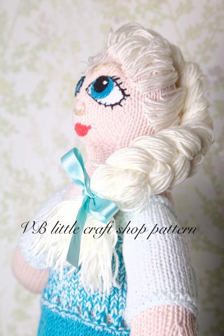 Frozen Elsa doll knitting pattern