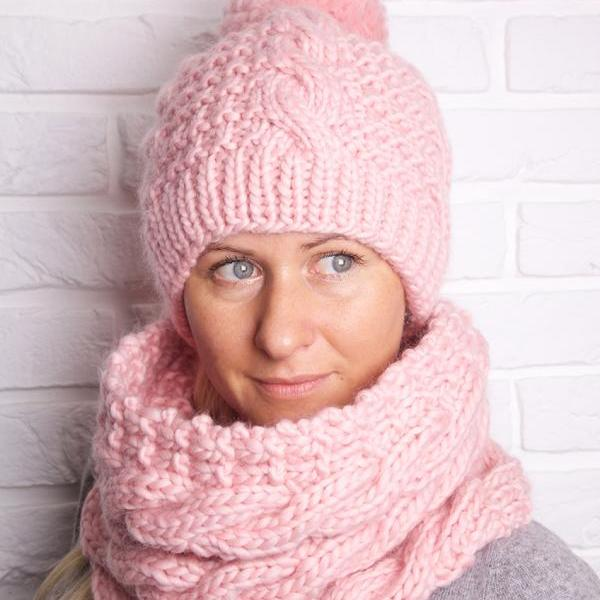 Free Aran Knitting Patterns To Download : Aran Hat And Cowl Knitting Pattern. on Luulla
